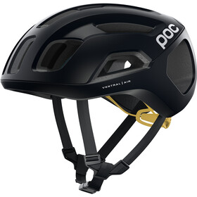 POC Ventral Air Spin Fietshelm, uranium black/sulfur yellow matt
